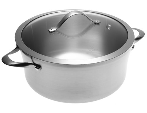 Calphalon Contemporary Stainless 6-1/2-Quart Sauce Pot with Glass Lid
