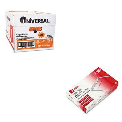 KITACC12993UNV21200 - Value Kit - Acco Prong Paper File Fasteners (ACC12993) and Universal Copy Paper (UNV21200)