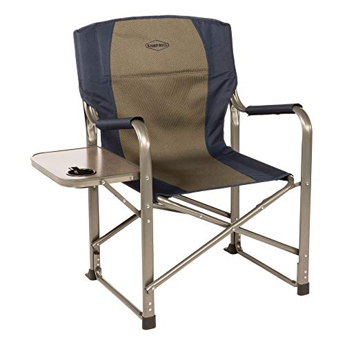 Kamp-Rite Director's Chair with Side Table, Blue