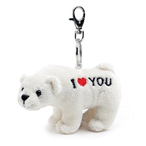 (Bear of Allan Stuffed Animal Polar Teddy Bear Keychain 4.33)
