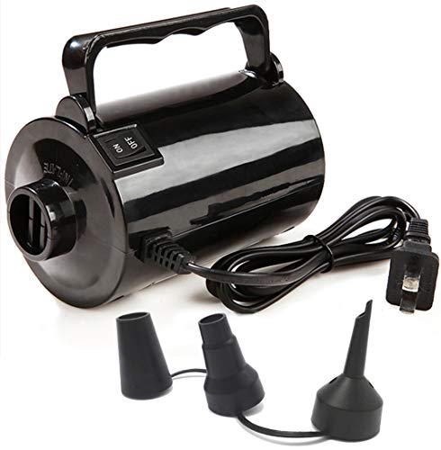 Fast Fill Electric Air Pump - Gifts Sources Electric Air Pump for Inflatable Pool Toys - High Power Quick-Fill Air Mattress Inflator Deflator Pump for Pool Float Raft Airbed with 3 Nozzles, 110-120V AC, 1.6PSI, Air Flow 26CFM