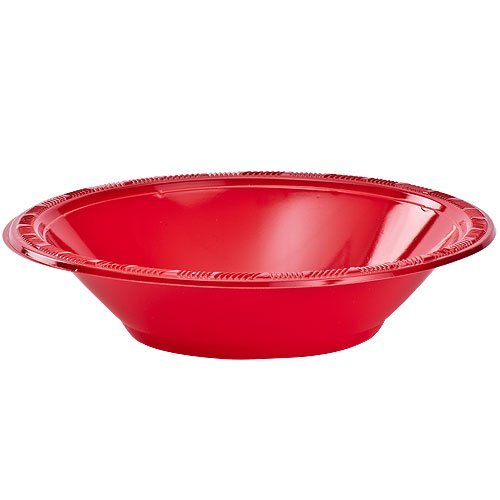 Hanna K. Signature Collection Plastic Bowl, 50 Bowls, 15-Ounce, Red ()