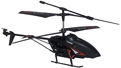 Odyssey Flying Toys 12 Nighthawk Helicopter With Built In Camera Black With Red Trim by Odyssey Flying Toys