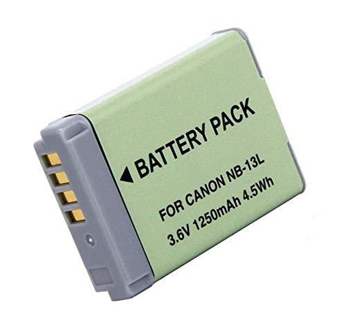 NB-13L Battery Pack for Canon PowerShot SX620 HS, SX720 HS, SX730 HS, SX740 HS, G1 X Mark III, G5 X, G7X, G7 X Mark II, G9X, G9 X Mark II Digital Camera
