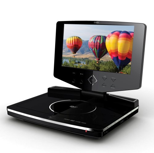 Coby TF-DVD1023 10.2-Inch Widescreen TFT Portable DVD/CD/MP3 Player with  Swivel Screen, Black