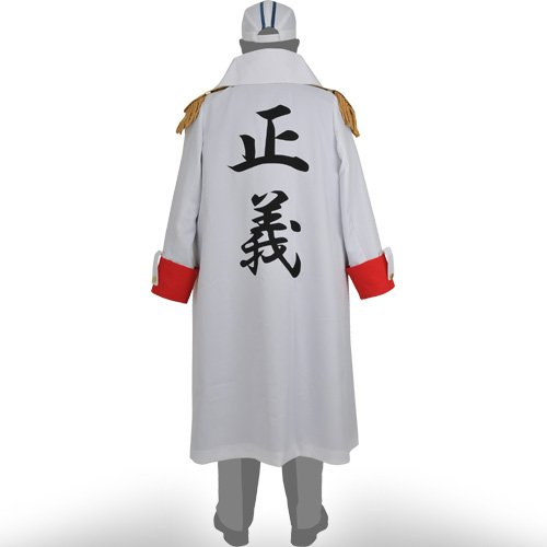 Amazon Com One Piece Costume Three Admiral Coat For Teen Mens One