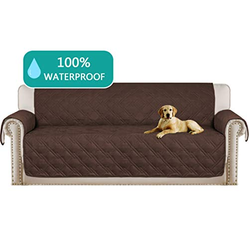 Turquoize Deluxe Couch Sofa Slipcover Perfect for Pets and Kids Furniture Protector 100% Waterproof Machine Washable Sofa Slipcover(Oversize Sofa,86