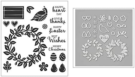 Amazon.com: Metal Cutting Dies and Scrapbooking for Paper Making Birthday Flowers Embossing Frame Card Clear Stamps Stampin Up Set - Only Die