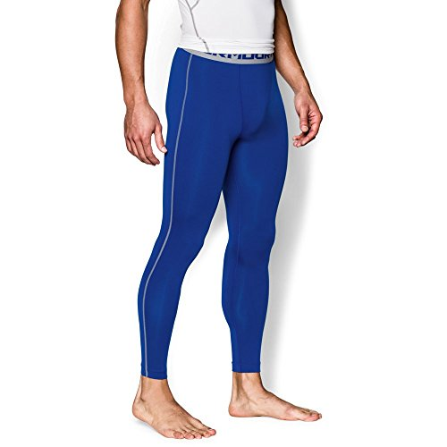 Under Armour Men's HeatGear Armour Compression Leggings, Royal/Steel, X-Large