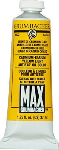 Grumbacher Max Water Miscible Oil Paint, 37ml/1.25 oz, Cadmium-Barium Yellow ()