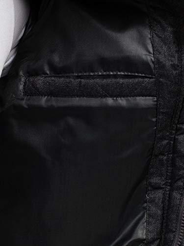 Hombre Oscuro Multipurpose Bolsillos con y BOLF 019 Cremallera Gris VANZEER Prácticos Alto Chaqueta Cuello 4aZdqxqw1