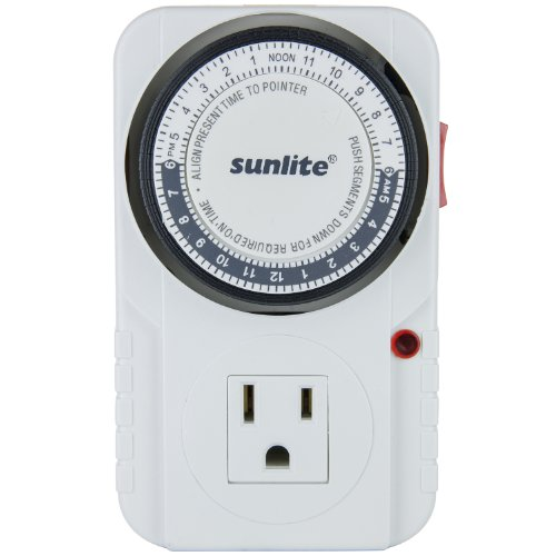 Sunlite T200 24 Hour Electrical Heavy-Duty Indoor Plug-in Outlet Timer