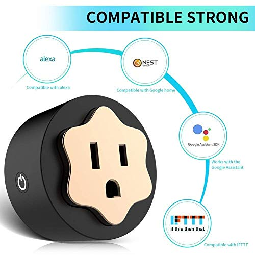 Smart Plug Wifi Mini Socket Outlet Compatible with Alexa, No Hub Required, Wireless Control Your Devices from Anywhere, ETL Certificated Timing Function For Smart Phone by SWISH (Image #2)