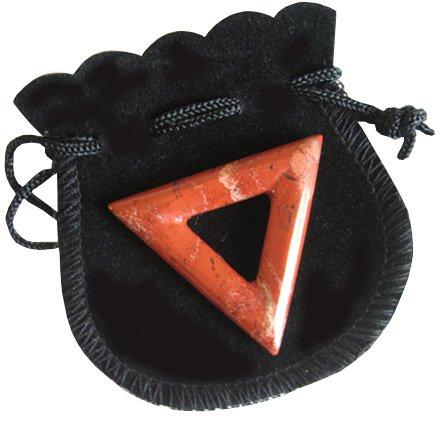 Will Power Talisman Triangle Donut In Red Jasper (Donut Triangle)