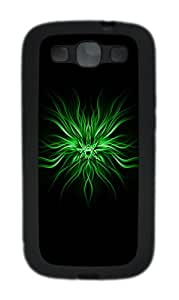 Green Abstract N Custom Design Samsung Galaxy S3 Case Cover - TPU - Black