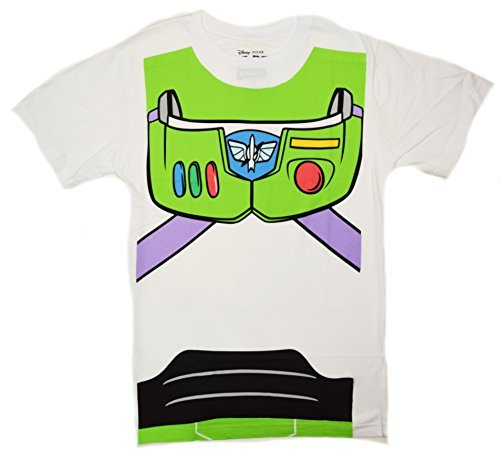 Disney Pixar Toy Story Buzz Lightyear Costume T-shirt (Large, (Mens Buzz Lightyear Costumes)