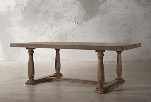 (ACME Furniture  Bernard Dining Table, Weathered Oak)