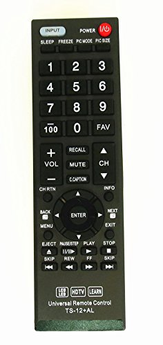 New Toshiba CT-90325 Universal Remote Control for All Toshiba BRAND TV, Smart TV - 1 Year Warranty(TS-12+AL) by Nettech
