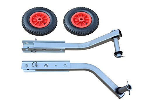 Jon Boat Launch Wheels : Brocraft boat launching dolly quot wheels for inflatable