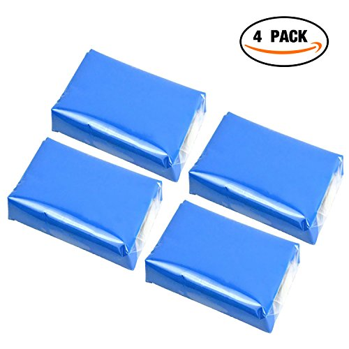 GOOACC Car Clay Bar - 100g Auto Detailing Claybar Cleaner (4PCs , Blue) by GOOACC