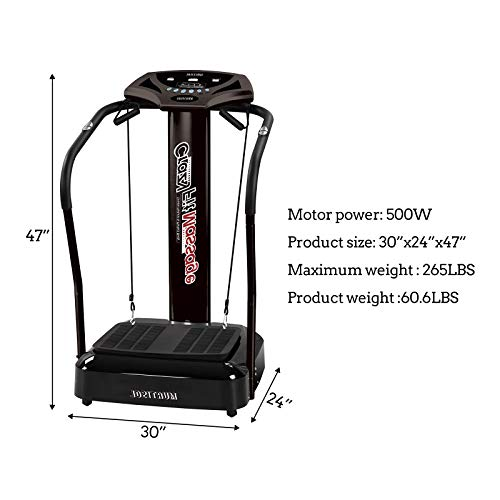 Murtisol Whole Body Vibration Platform Power Plate with Pulse Rate Grips,Resistance Bands,Multi-Speed by Murtisol (Image #4)