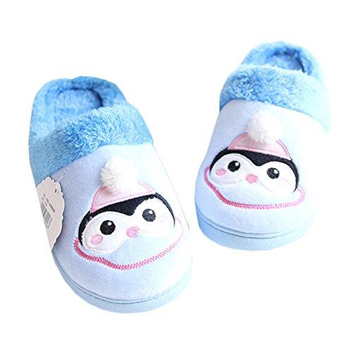 JadeRich Womens Penguin Cozy Fleece Warm Indoor Slippers Blue q1gLFmfb