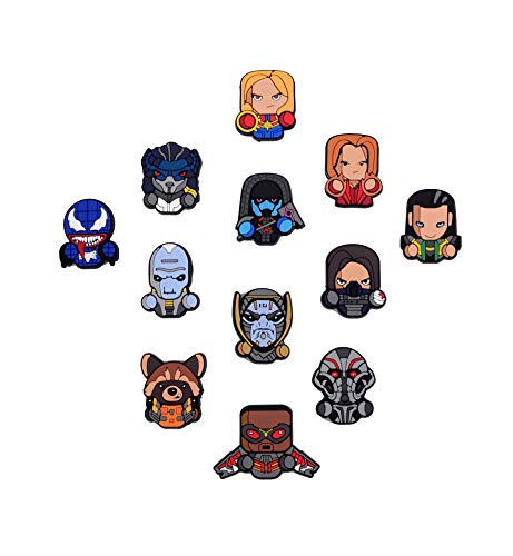 Exclusive Superhero Fridge magnets - Marvel Cinematic Universe Superheroes - DC Comics Superheroes Collectible Figures (Infinity War + Captain Marvel + Venom) (Pin Superhero)