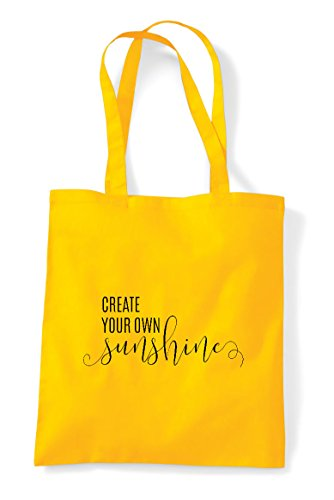 Create Bag Yellow Your Shopper Sunshine Tote Statement Own PqPxr1wT