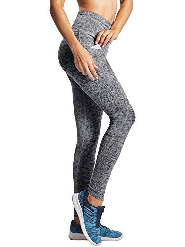 Neleus Tummy Control High Waist Workout Running Leggings for Women,9033,Yoga Pant 3 Pack,Black,Grey,Red,XS,EU S by Neleus (Image #3)