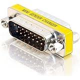 C2G/Cables to Go 02773 DB15 M/M Mini Gender Changer (Coupler)