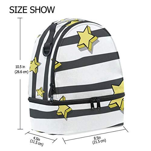 almuerzo rayas Bolsa Stars el con de pincnic aislante de para diseño de escuela hombro FOLPPLY ajustable correa la con para 5q0dtw4