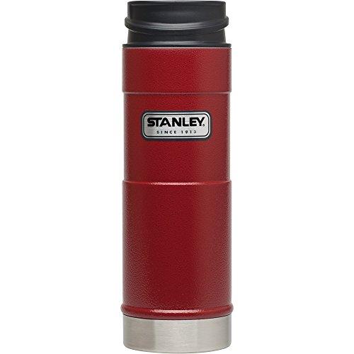 Stanley Classic One Hand Vacuum Mug, Hammer Tone Crimson, 16-Ounce