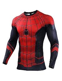 Ampparels Nueva película Cosplay Araña Disfraces Gimnasio Deportes Compresión Superhéroe Mangas largas Camiseta