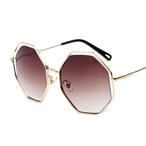 Aoligei Polygone Retro creux lunettes de soleil hommes, femmes, lunettes de soleil lunettes de conduite rond visage