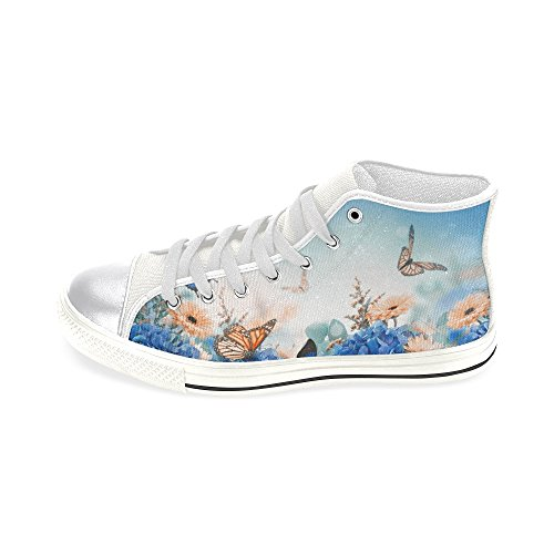 Story D Classic Custom Canvas Butterfly Womens Flower and Fashion Top Shoes High Sneaker dY6YTq