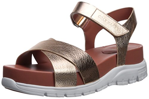 Ii Leather Women's Gold Zerogrand Cole Rose Sandal Haan Flat wOUUxqI1