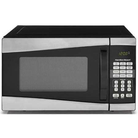 Cheap Hamilton Beach 0.9 cu ft 900W Microwave, Stainless Steel