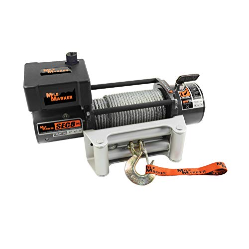 Mile Marker 77-50141W SEC8(ES) Truck/Jeep/SUV Element Sealed Electric Winch - 8,000 lb. Capacity, 1 Pack (Mile Marker 8000 Winch)