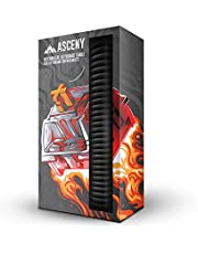 Asceny Coiled & Double-Sleeved Mechanical Keyboard Cable, for Type-C Mechanical Keyboards (Black)
