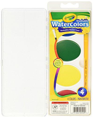 Crayola 4 Ct. Pan So Big Washable (Big Washable Watercolor)
