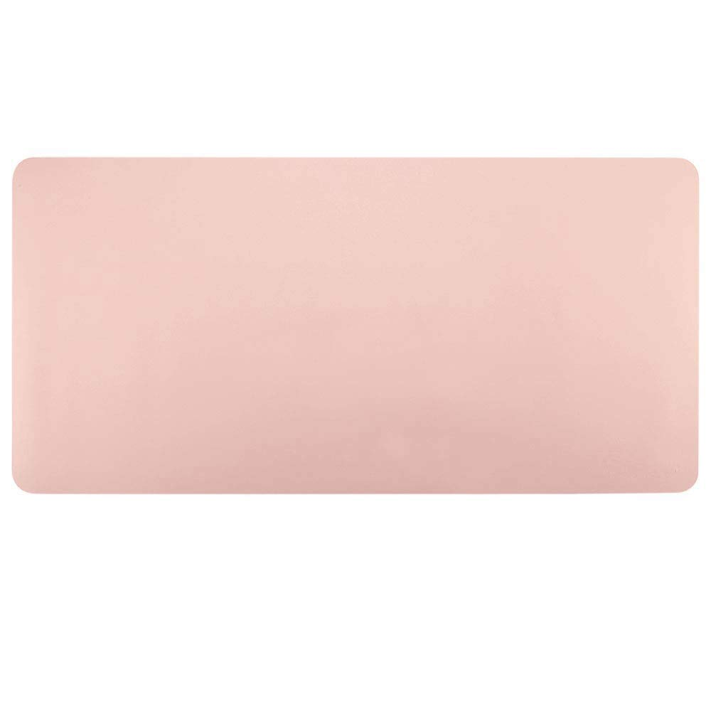BUBM Desk Mat Protecter 90 45cm PU Leather Desk Pad Blotters Organiser with Comfortable Writing Surface,Pink