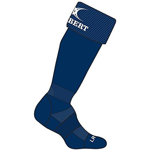 (Gilbert Rugby Mens Kryten II Rugby Socks (8-14 US) (Navy))
