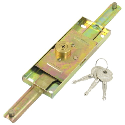 uxcell Warehouse Brass Tone Cylinder Head Dia Rolling Shutter Door Lock with 3 Keys