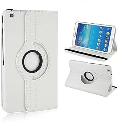 Samsung Tab 3 8.0 Funda Case Cover,Blanco Funda de Piel de Cuero Carcasa Funda para Samsung Galaxy Tab 3 8.0 pulgada Tablet SM-T310 Smart Case Cover ...