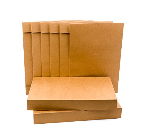 Hallmark Shirt Size Gift Boxes for Birthdays, Christmas, Father's Day and More (Pack of 5; Kraft Brown)