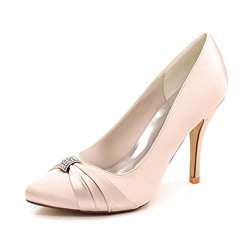 L@YC Women'S High Heels Spring / Summer / autumn Wedding Shoes / Round 0255-18 Party Evening Champagne mplb0yWpn