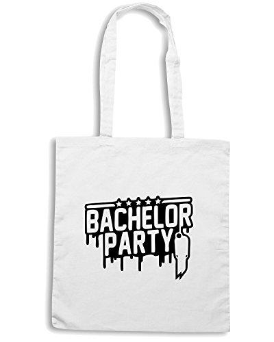 T-Shirtshock - Bolsa para la compra MAT0011 Bachelor Party Hanged Man Maglietta Blanco