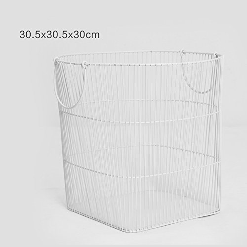 GX&XD Simple Iron Newspaper and magazine rack,Magazine storage basket File organizer rack Snack finishing basket Storage basket Home decor-A by GX&XD