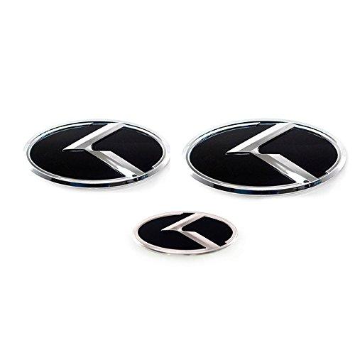K Logo EMBLEM SET Bonnet Trunk Wheel Horn For KIA CADENZA K7 2011 2013