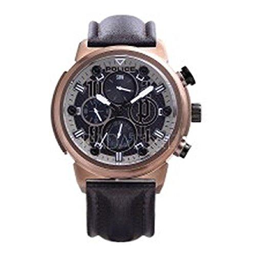 Police Reloj Cronógrafo para Hombre de Cuarzo con Correa en Cuero PL.14250XSQBZ_02: Amazon.es: Relojes